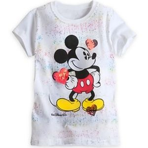 Disney Shirt for Girls Mickey Mouse T Sequin Heart